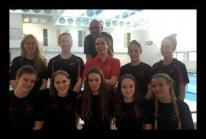Cheltenham Swimming and water Polo Club Girls U17's NAGS team 2019